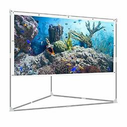 JaeilPLM 100-Inch 2-in-1 Portable Projector Screen, Outdoor