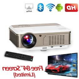 1080P Android 6.0 WiFi Wireless Bluetooth Projector HD Home