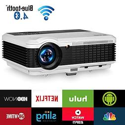 Wireless Bluetooth HDMI Projector 1080P Home Theater 2018 Sm