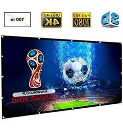 DOACE Portable 100 Inch HD Video Projector Screen 16:9 Indoo