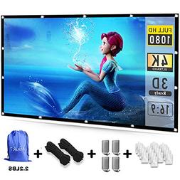 Efnik 7 Projector Screen 120 inch 16:9 HD Foldable Anti-Crea