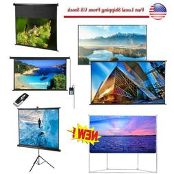 Electric Manual Portable Foldable Projector Screen Home Thea
