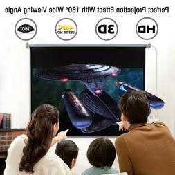 "100"" 16:9 Electric Motorized Projector Screen 1080P HD Proje"