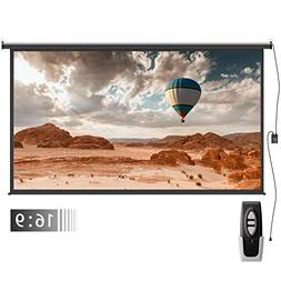 Electric Motorized Auto Projector Screen – FEZIBO 100 inch