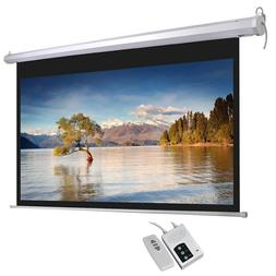 Electric Projector Screen Retractable Ceiling Mounted 92 In