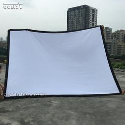 Factory Sale Movie Projector White Fold Projection Screen Cu