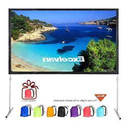 "Excelvan 120"" 4K Projector Screen with Stand Legs, Outdoor I"
