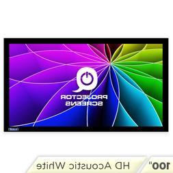 Qualgear Fixed Frame Projector Screen 16:9 100 Inch HD Acous