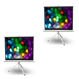 Pyle 50 Inch Fold Out Roll Up Video Projector Viewing Displa