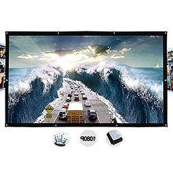 TOPmountain Foldable 16:9 HD Display 40 inches Projector Scr