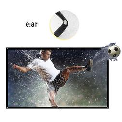 Foldable 84'' 16:9 Portable HD 3D Projector Screen Home Thea