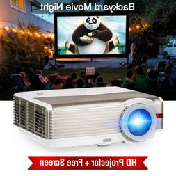 Full HD 8000LM Projector Multimedia Video Home Theater 1080P