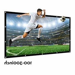 "GIANT Home Screen 200"" 16:9 HDTV Outdoor Portable Movie Proj"