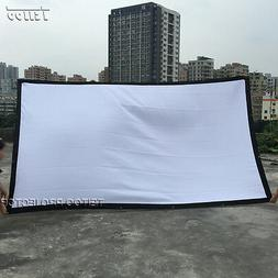 Good Price Home Outdoor Portable White HD Projector Screen C