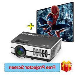 2800lumen HD 1080P LED Home Theater Mini Projector HDMI USB