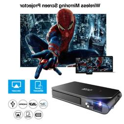 HD Mini DLP Projector HDMI 3D Home Theater Wireless Mirror S