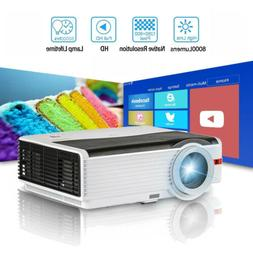 HD Projector Home Theater Video Movie Gaming 200'' Screen TV