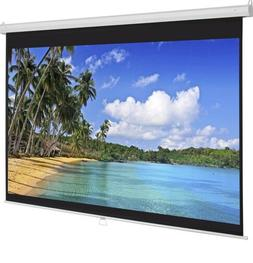 """HD Pull Down Manual Projector Screen 84"""" X 84""""- White SKY118"""
