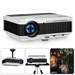 "EUG Projector 3900 Lumen 200"" Image LCD Diaplay 1080P HD Mul"