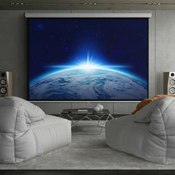 "Home Theatre 119"" HD Indoor Pull Down Manual Widescreen Proj"