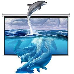 "Cloud Mountain 100"" 16:9 HD Manual Projector Screen with Aut"