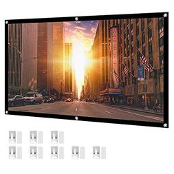 """HENZIN 100"""" Inches 16:9 Simple Portable Projector Screen Pol"""