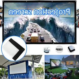Hongfei Indoor Outdoor Portable Movie Screen, Foldable 4:3 H