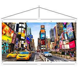 JaeilPLM Indoor, Outdoor 120 Inch 16:9 Projector Screen. Ins
