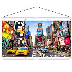 JaeilPLM Indoor, Outdoor 80 Inch 16:9 Projector Screen. Inst