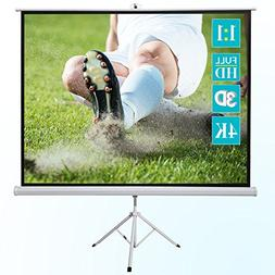 """ivolum 120"""" HD Projector Screen, 86"""" x 86"""" Viewing Are"""