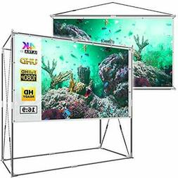 JaeilPLM 80-Inch Projection Screens 2-in-1 Portable Projecto