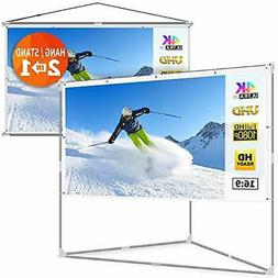 JaeilPLM 80-Inch Stands 2-in-1 Portable Projector Screen, Ou