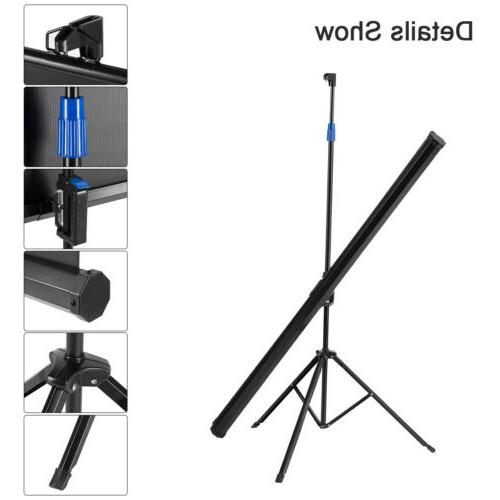 """Portable 100"""" Projector 16:9 Projection Screen Up Matte"""