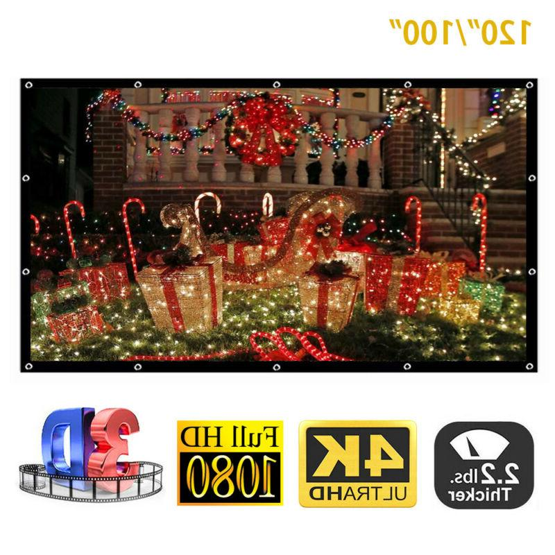 120inch 16:9 Portable Foldable Projector Screen HD Home Thea