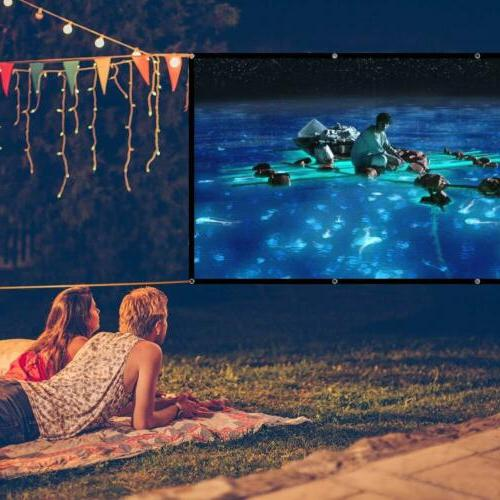 100'' Portable Foldable Projector Screen 16:9 Theater Outdoor