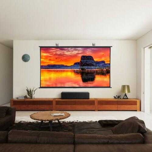Excelvan 100 Inch 120 Viewing Angle Hanging Screen