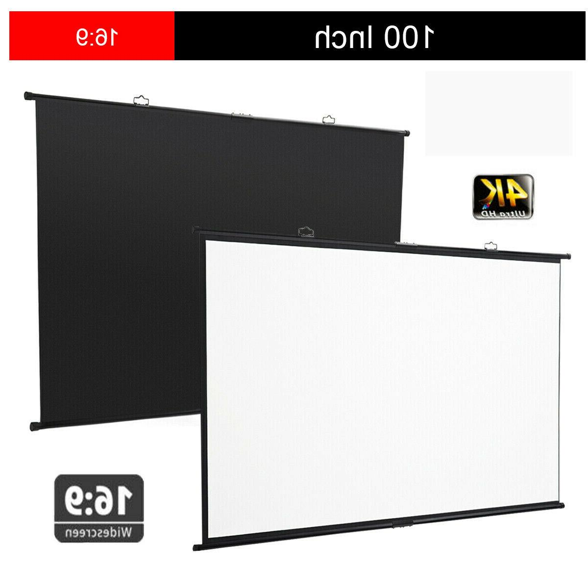 "Excelvan 100"" Fast Wall-mounted Projector Screen Hanging"