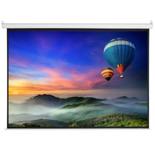 "100"" 4:3 Material Motorized Screen +Remote"