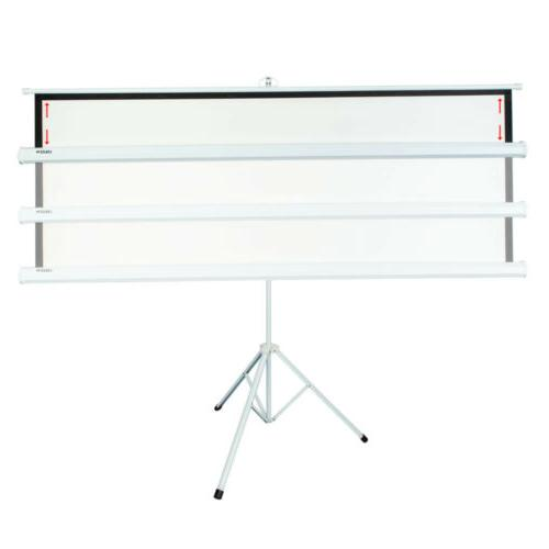 """100"""" Projection Projector Screen Home Manual Tripod"""
