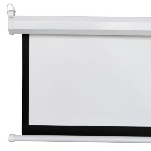 "100"" Diagonal Projector Screen HD Pull Theater"