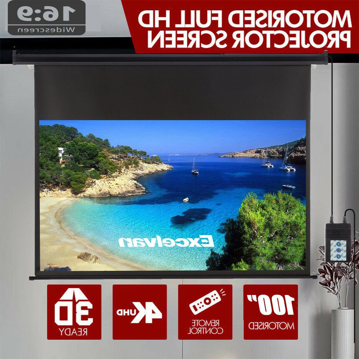 "100"" Electric Motorized Projector Screen Cinema"