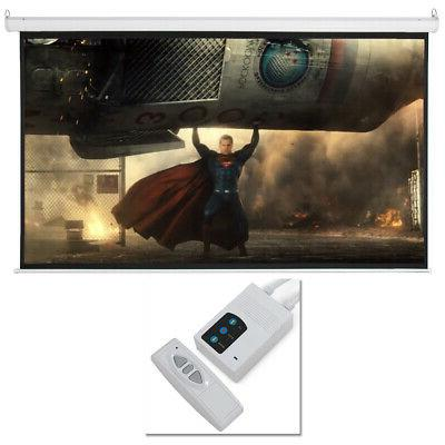100 electric motorized remote projection screen hd