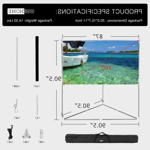 """VIVOHOME 100"""" Projector Hanging Outdoor"""
