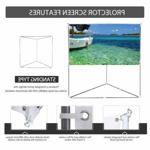 """VIVOHOME 100"""" Projector Screen Hanging Outdoor Projection"""