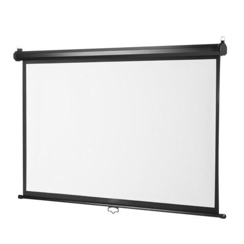 "100"" Inch Manual Down Projector Screen Cinema UK"