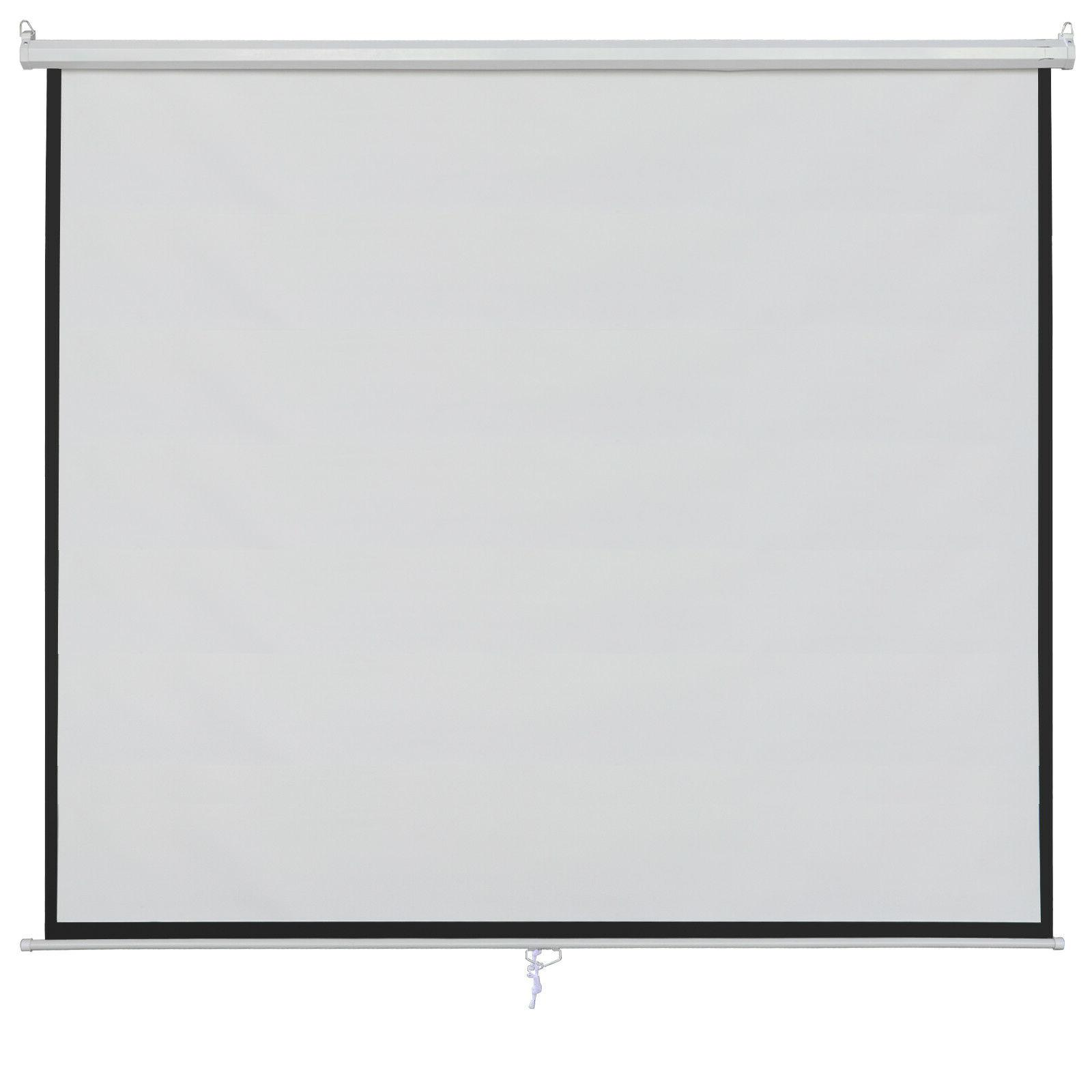 100 Inch 16:9 Manual Pull Down Projector Projection Screen f