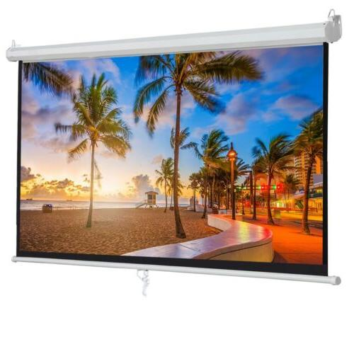 "100"" Manual Projection Screen Down Matte"