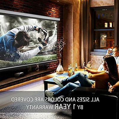 100 Inch Projector Screen Movie Video