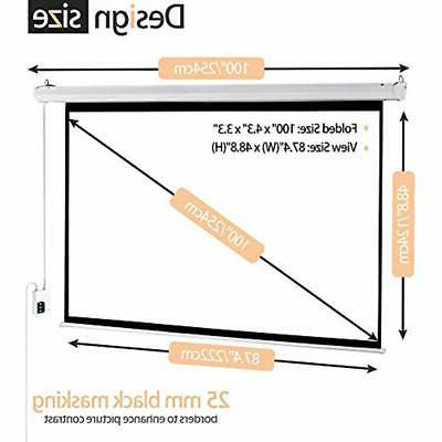 100 Inch 169 Screen Portable Movie Video Projection