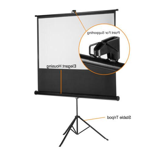 Portable Projection Screen Pull Matte